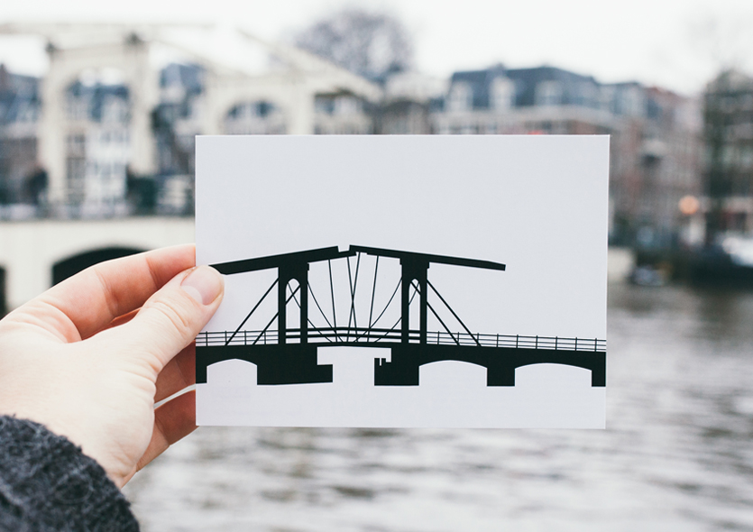 postcard of Magere Brug by WUUDY