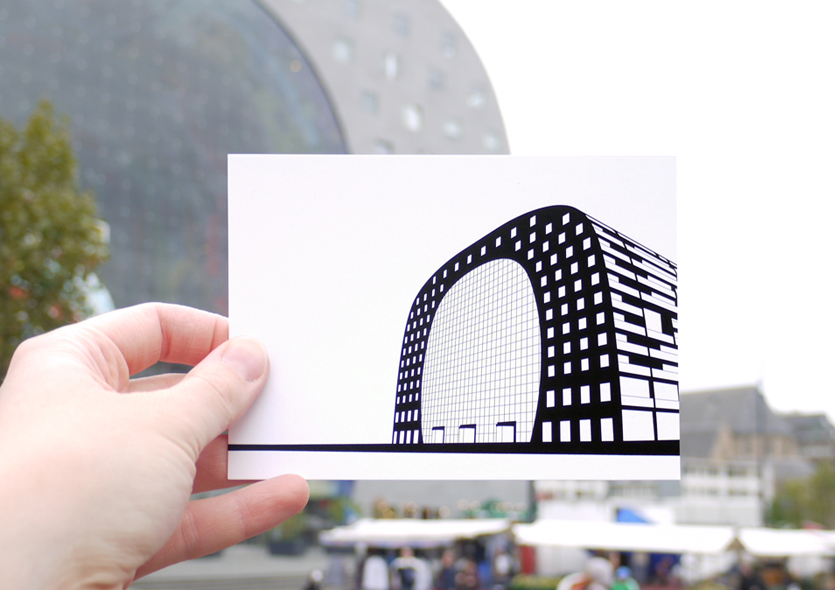 postcard of Markthal by WUUDY