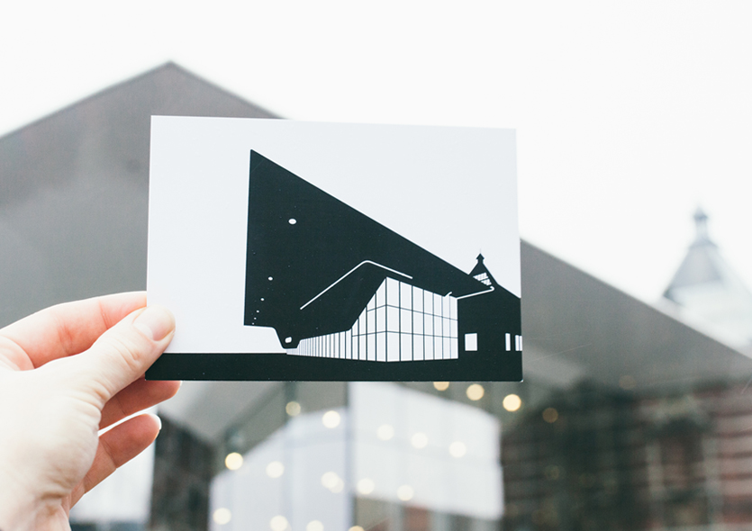 postcard of Stedelijk museum by WUUDY